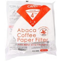 Filtro Papel Cafec Abaca 2 - 4 tazas (100 unidades)