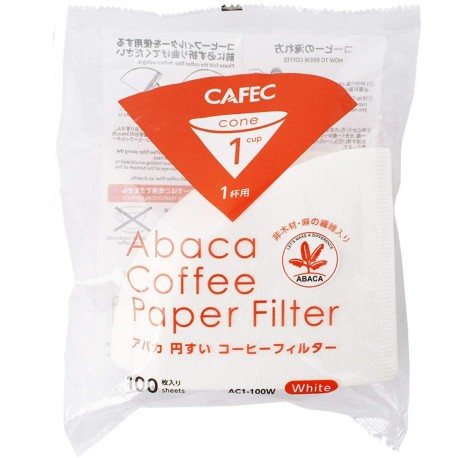 Filtro Papel Cafec Abaca 1 taza (100 unidades)