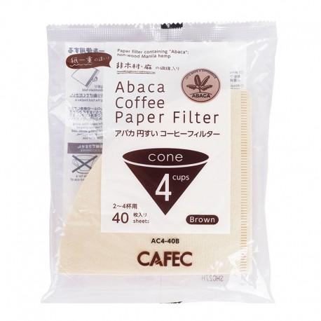 Filtro Papel Cafec Abaca sin blanquear 2 - 4 tazas (40 unidades)