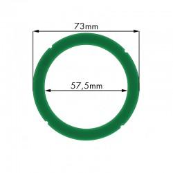 Junta portafiltros silicona para Rancilio 73x57.5x8mm