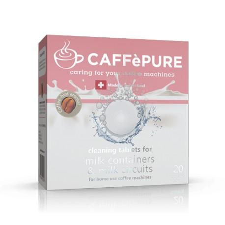 Caffé Pure Pastillas de Limpieza para circuitos de leche