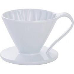 Cafec Flower Dripper Arita Cerámica 1 taza (Blanco)