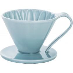 Cafec Flower Dripper Arita Cerámica 1 taza (Azul)