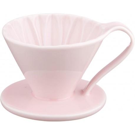 Cafec Flower Dripper Arita Cerámica 1 taza (Rosa)