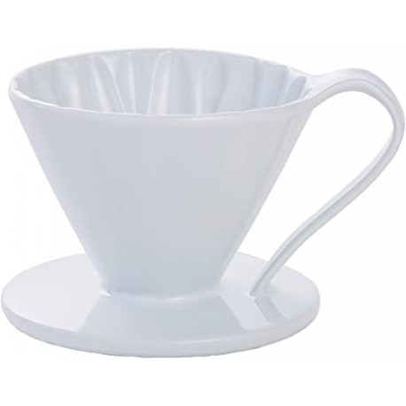 Cafec Flower Dripper Arita Cerámica 2 - 4 tazas (Blanco)
