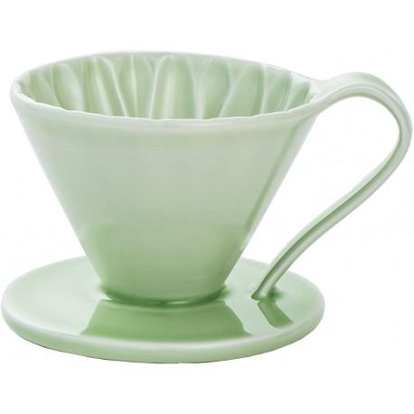 Cafec Flower Dripper Arita Cerámica 2 - 4 taza (Verde)