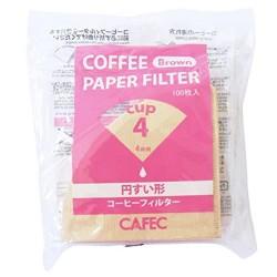 Filtro Papel Tradicional Cafec 2 - 4 tazas sin blanquear (100 unidades)