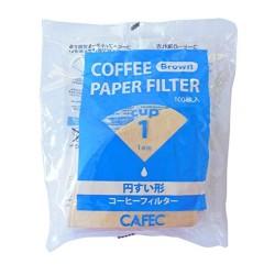 Filtro Papel Tradicional Cafec 1 taza sin blanquear (100 unidades)