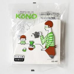 Kono Filtro papel para 2 tazas (40 unidades)