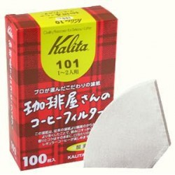 Kalita 101. 100 Filtros blancos