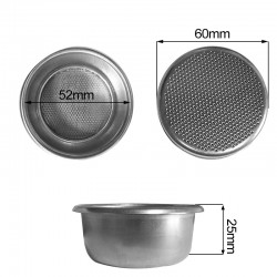 Filtro 2 tazas Pavoni Europiccola Millenium De.60 Di.52 H.25