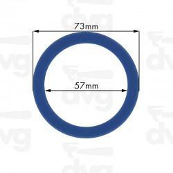 Junta portafiltros silicona para Faema, E61, 73x57x8,5mm
