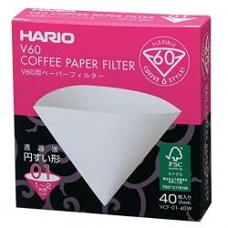 Filtro Papel Hario V60 1 - 2 tazas (40 unidades)
