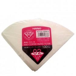 Filtro Papel Hario V60 02 1 - 4 tazas (100 unidades). Made in the EU.